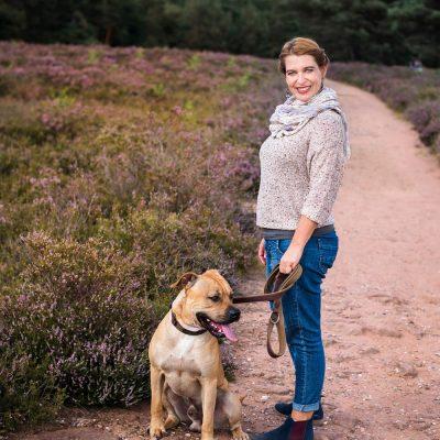Hund und Frauchen im Portrait – Portraitfotos Mehlinger Heide