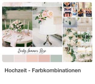 Farbkombinationen für Ihre Hochzeit